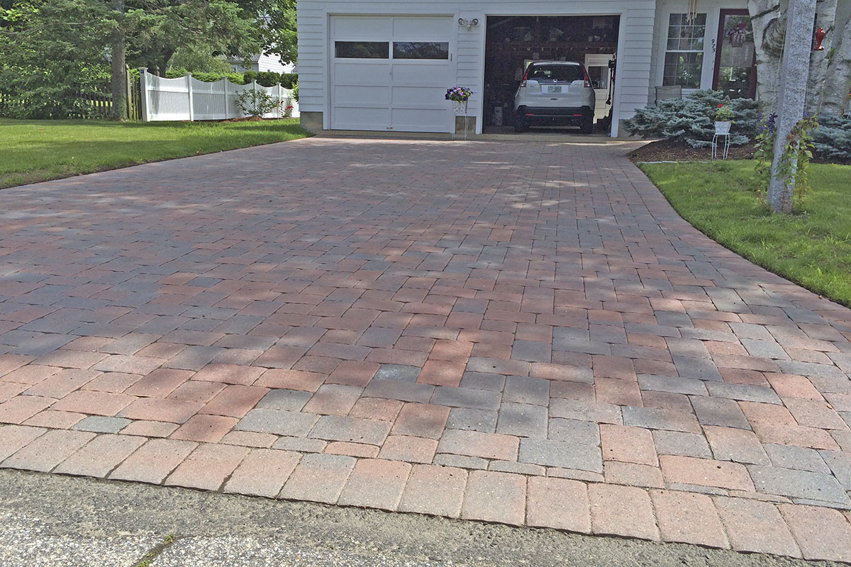 Nh stone work driveways nowak landscape construction for Landscape construction
